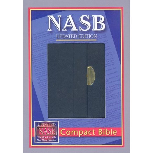 NAS Compact Bible with Snap, Black