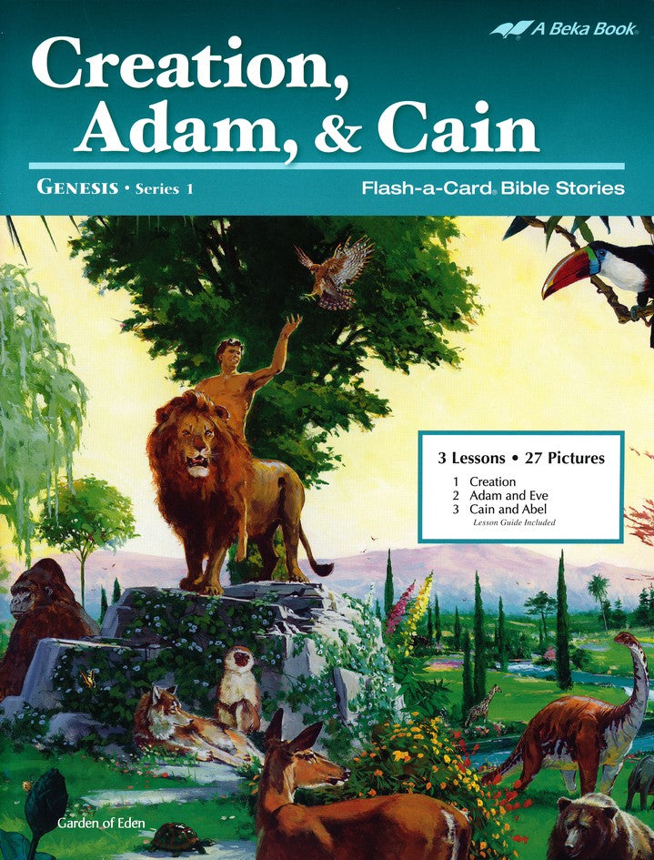 Creation, Adam, and Cain - A Beka Flash-A-Cards