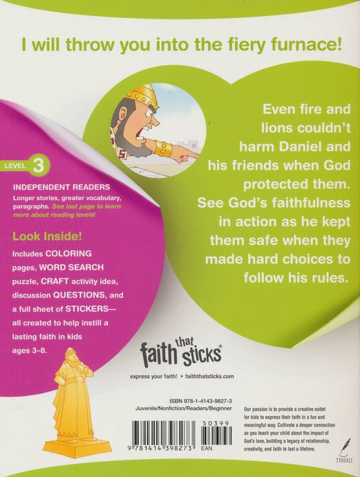 Daniel and His Friends Story & Activity Book (Faith That Sticks)