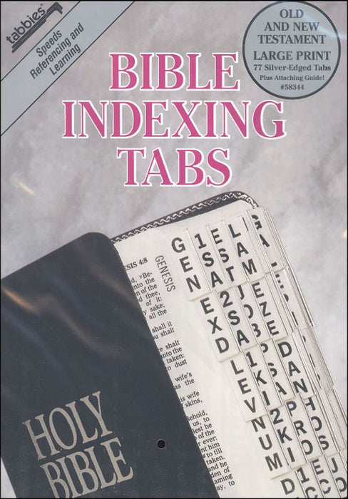 Tabbies OT/NT Large Print Silver Bible Indexing Tabs