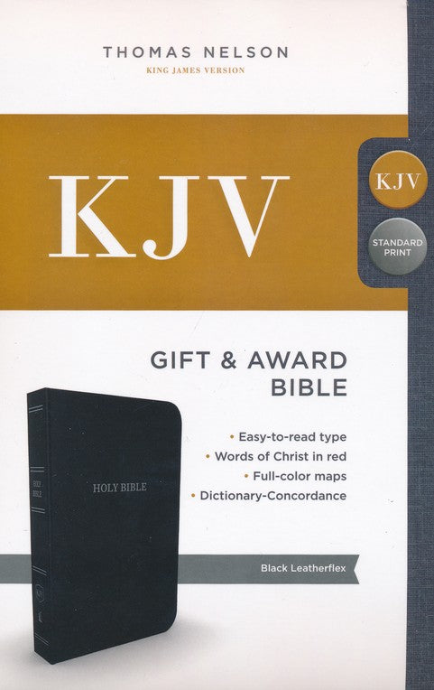KJV Gift & Award Bible Comfort Print- Black