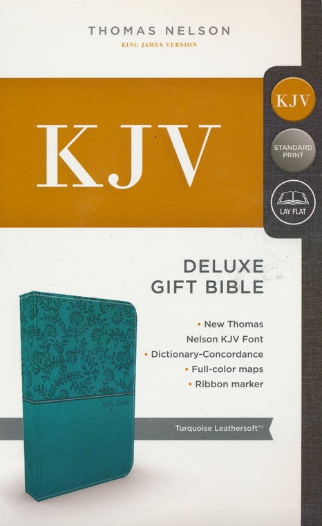 KJV Deluxe Gift Bible Turquoise Leathersoft