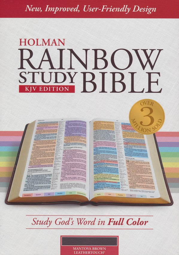 KJV Rainbow Study Bible, Brown LeatherTouch