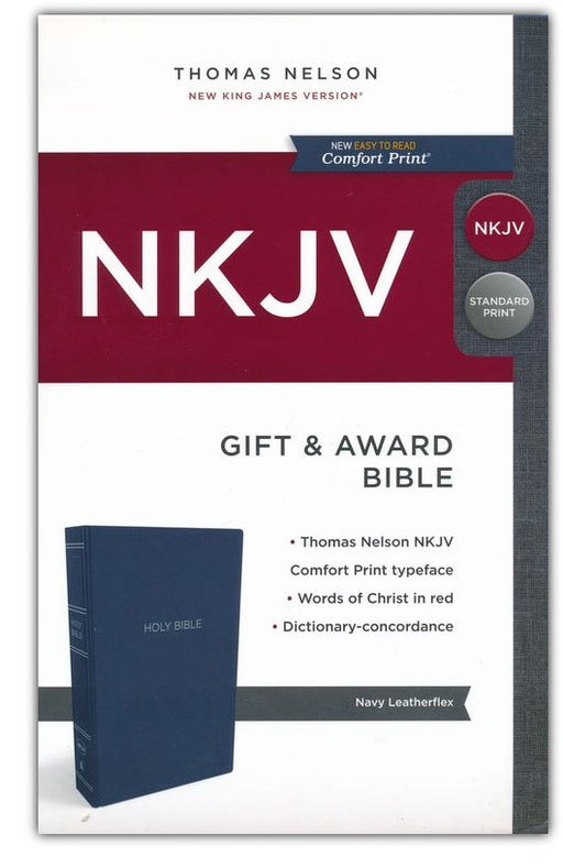 NKJV Gift & Award Bible - Blue