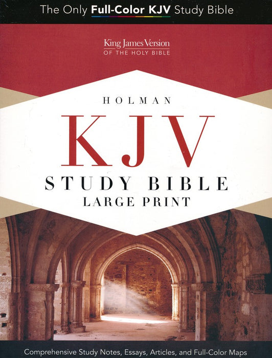 KJV Study Bible Large Print, Saddle Brown LeatherTouch, Indexed