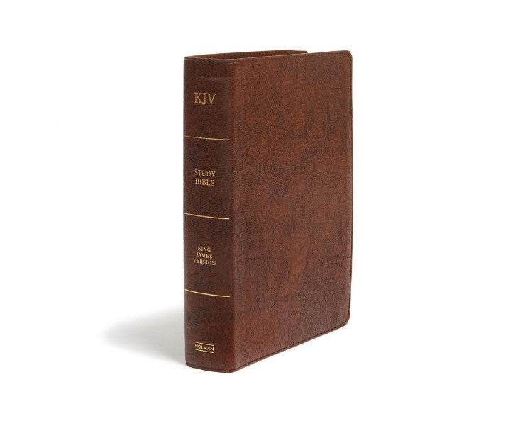 KJV Study Bible Saddle Brown Bonded (Full-Color)