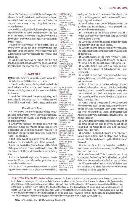 KJV Open Bible Black Leathersoft Indexed