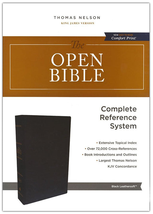 KJV Open Bible Black Leathersoft