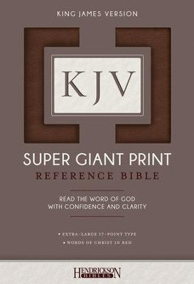 KJV Super Giant Print Reference Bible, Brown Flexisoft