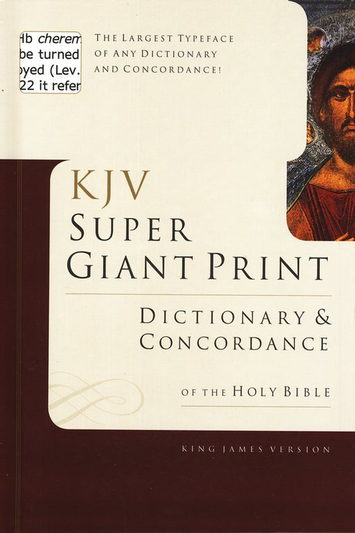 KJV Super Giant Print Dictionary & Concordance
