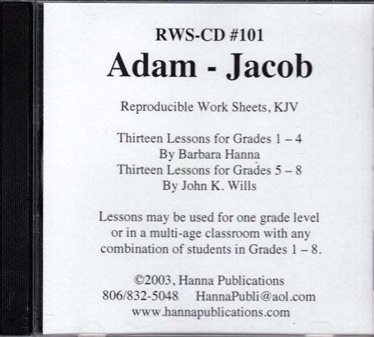Adam-Jacob  OT Bible lessons CD