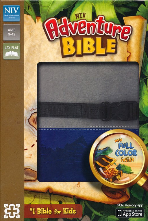 NIV Adventure Bible Gray/Blue Leathersoft