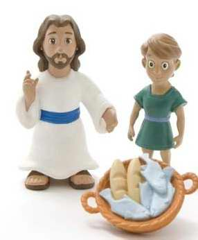 Jesus Feeds the 5000 Figurine Set - Tales of Glory