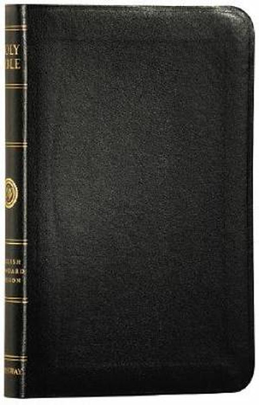 ESV Thinline Bible Black Bonded Leather