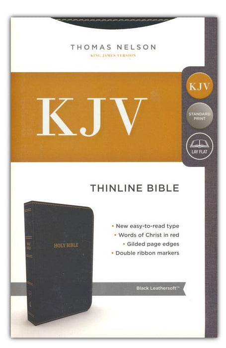 KJV Thinline Bible Black Leathersoft