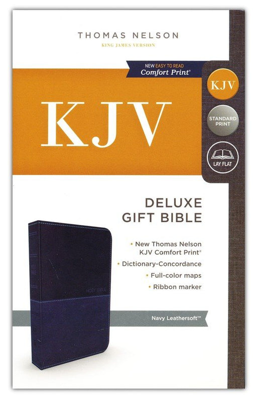 KJV Deluxe Gift Bible Blue Leathersoft