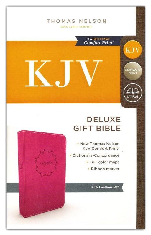 KJV Deluxe Gift Bible Pink Leathersoft