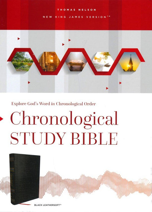 NKJV Chronological Study Bible Brown/Auburn LeatherSoft
