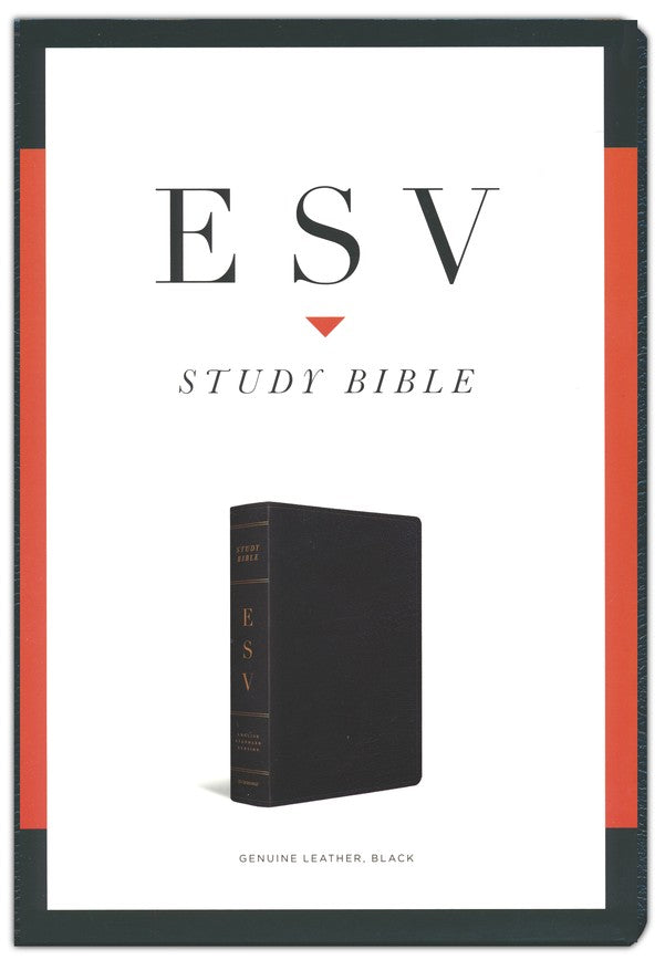 ESV Study Bible -  Black Genuine Leather (special)