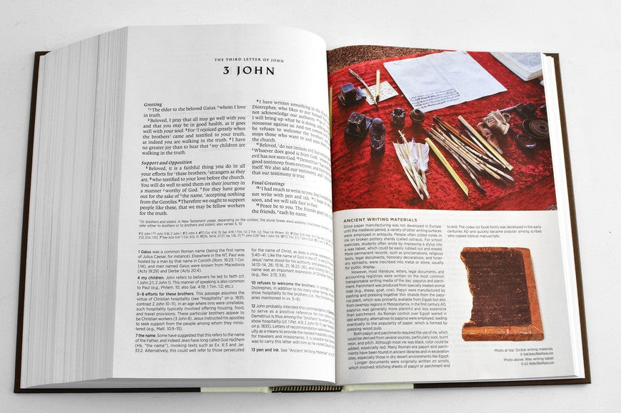 ESV Archaeology Study Bible Brown TruTone