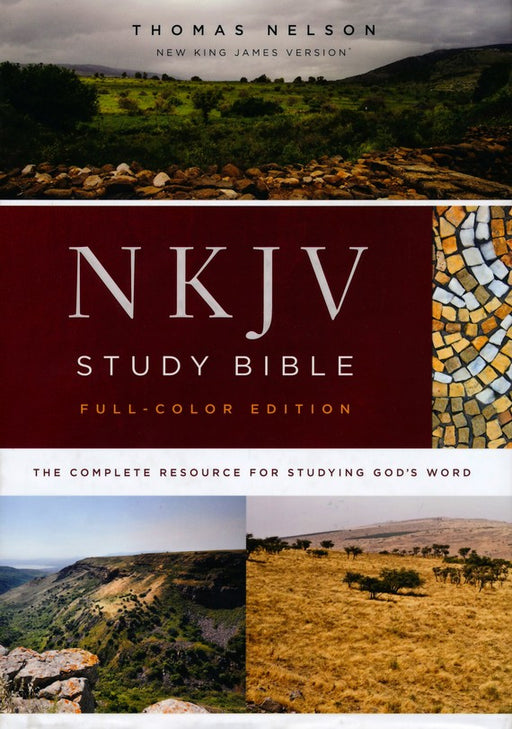 NKJV Comfort Print Study Bible Full-Color Edition Hardback