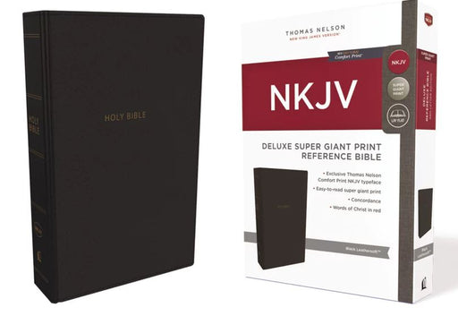 NKJV Super Giant Print Reference Bible, Black Leathersoft