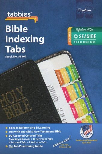 Tabbies Seaside OT & NT Bible Indexing Tabs