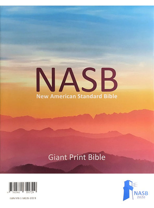 NASB 2020 Giant Print Bible Navy Leathertex Indexed