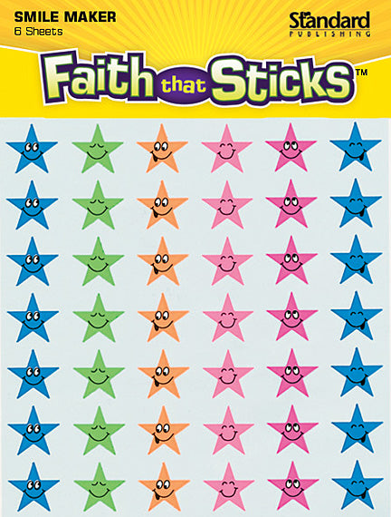 Star Smile Faces Stickers