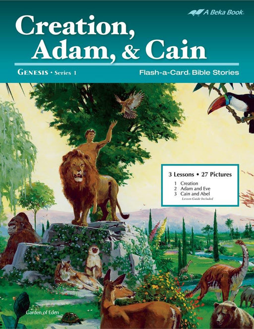 Creation, Adam, & Cain Flash-A-Card Bible Stories - Book Format
