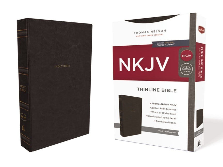 NKJV Thinline Bible Black Leathersoft Indexed