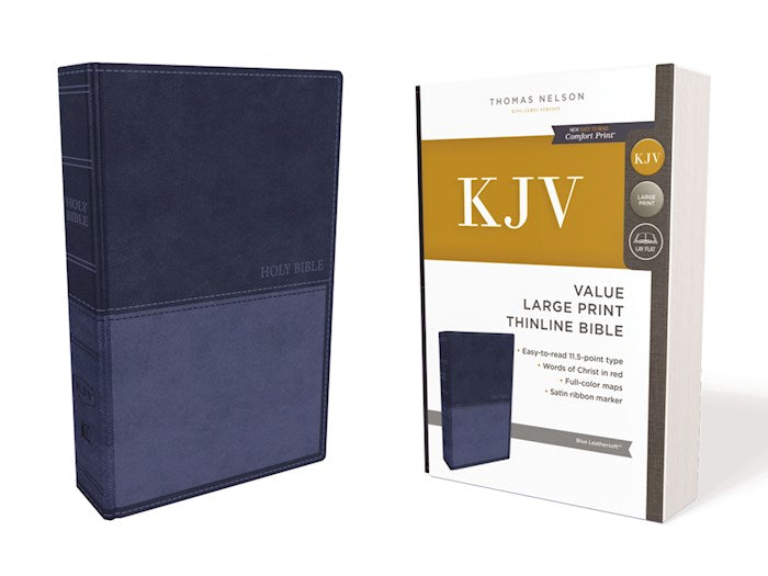 KJV Large Print Value Edition Thinline Bible, Blue Leathersoft