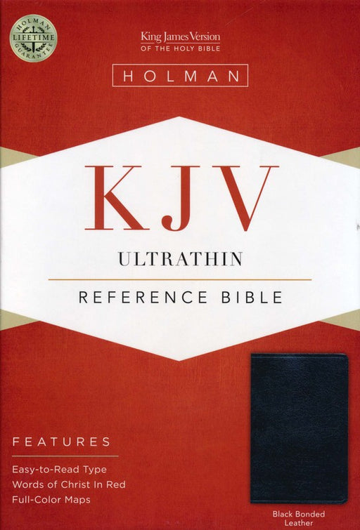 KJV Ultrathin Bible Bonded, Black