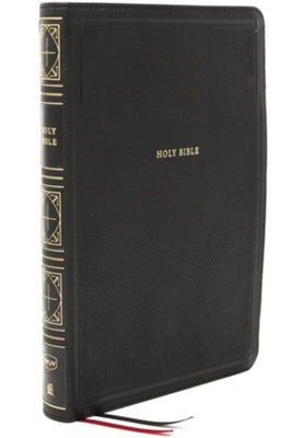 NKJV Giant Print Thinline Bible Black Leathersoft Indexed