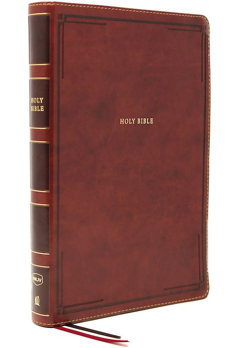 NKJV Giant Print Thinline Bible Brown Leathersoft Indexed