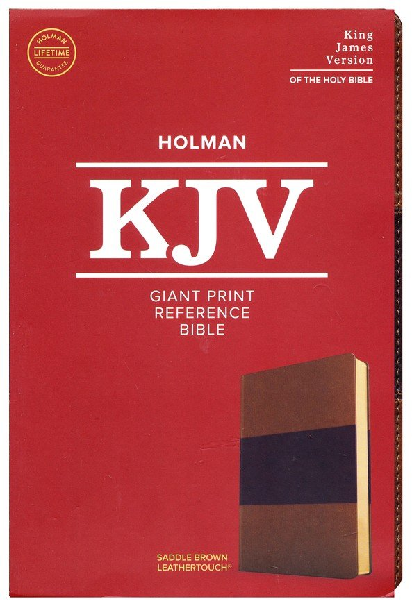 KJV Giant Print Reference Bible Saddlebrown Leathertouch