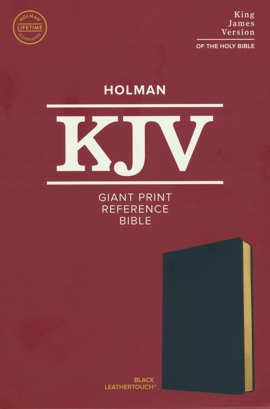 KJV Giant Print Reference Bible Black Leathertouch