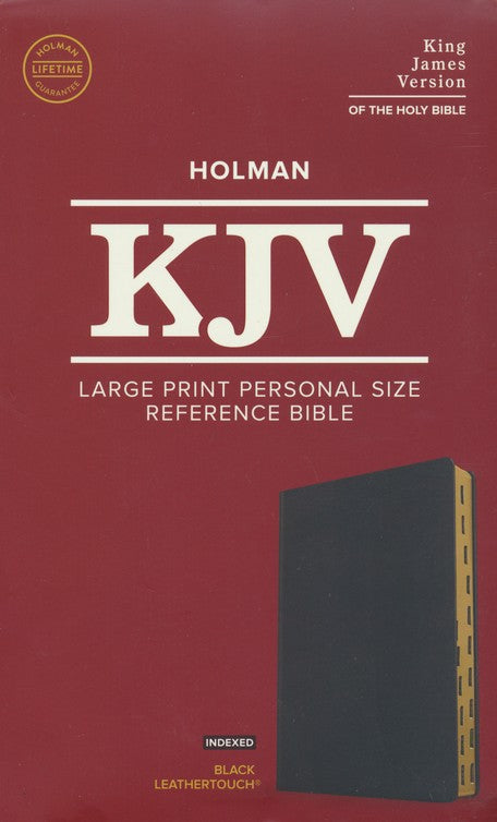 KJV Large Print Personal Size Reference Bible, Black LeatherTouch Indexed