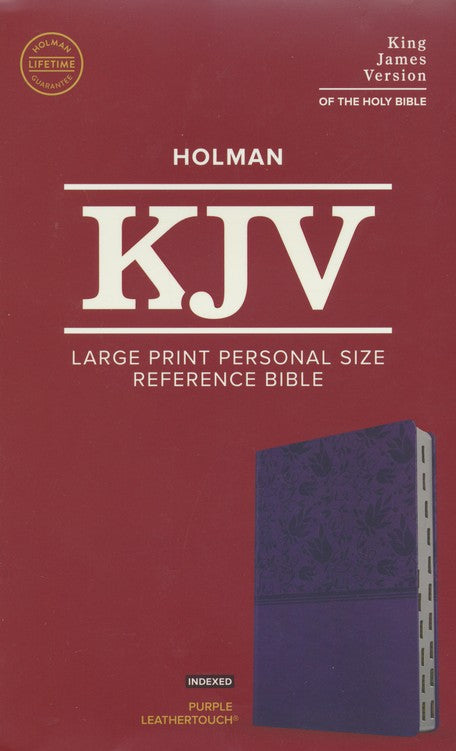 KJV Large Print Personal Size Reference Bible, Purple LeatherTouch, Indexed