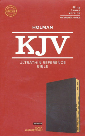 KJV Ultrathin Reference Bible Leathertouch, Indexed