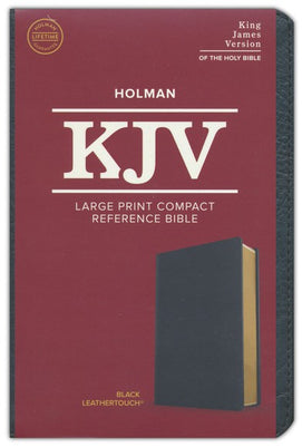 KJV Large Print Compact Bible Bonded, Black