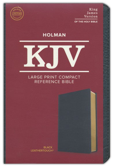 KJV Large Print Compact Bible Black LeatherTouch
