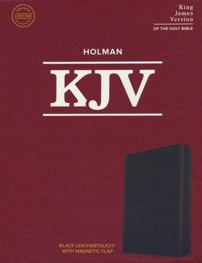 KJV Large Print Compact with Magnetic Flap, Black