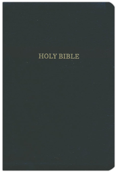 KJV Super Giant Print Deluxe Reference Bible Black Leathersoft, Indexed