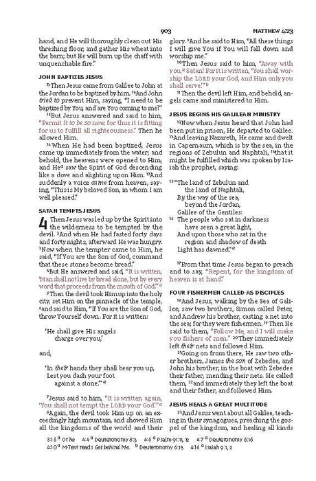 NKJV Large Print Thinline Bible Black LeatherSoft, Indexed