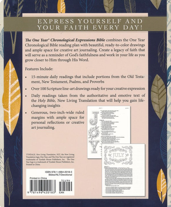 One Year Chronological Bible Creative Expressions - NLT - Paperback