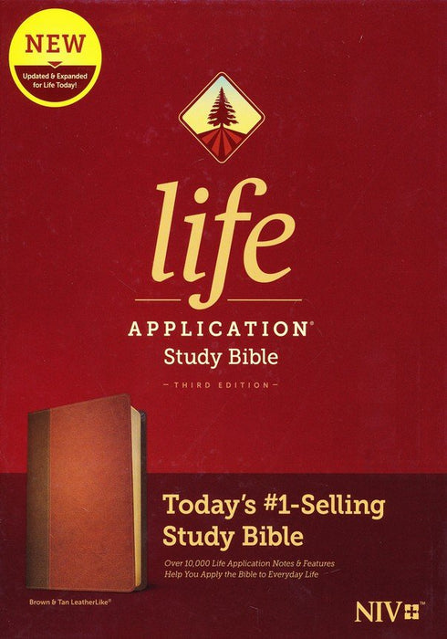 NIV Life Application Study Bible Brown/Tan Leatherlook