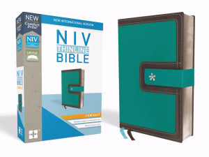 NIV Thinline Compact Bible Turquoise/Chocolate Duo-Tone with Magnetic Closure