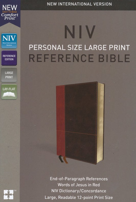 NIV Personal Size Large Print Reference Bible Leathersoft