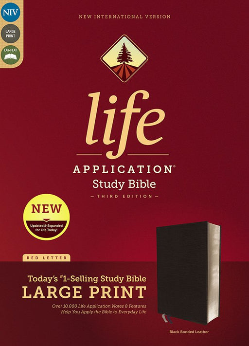 NIV Life Application Study Bible Large Print Black Bonded Leather